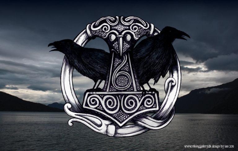 Hugin Munin mythologie viking mjollnir