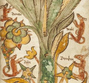 Dain, Durathror, Dvalin et Duneyr yggdrasil